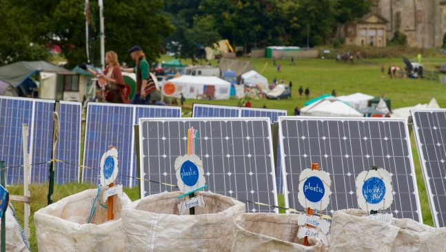 The Green Gathering: Engaging the community in using renewables